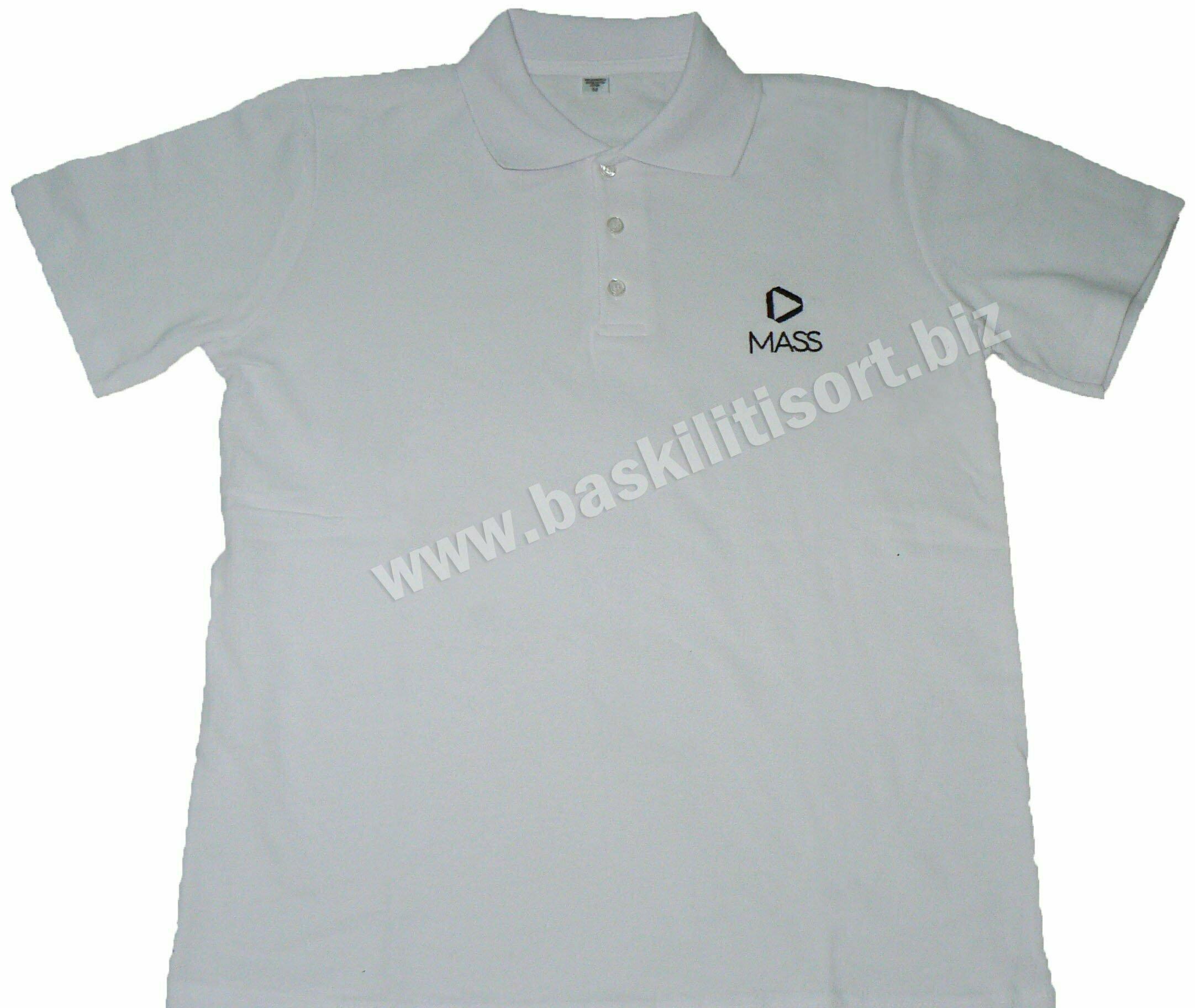 Polo Yakalı Tişört Beyaz